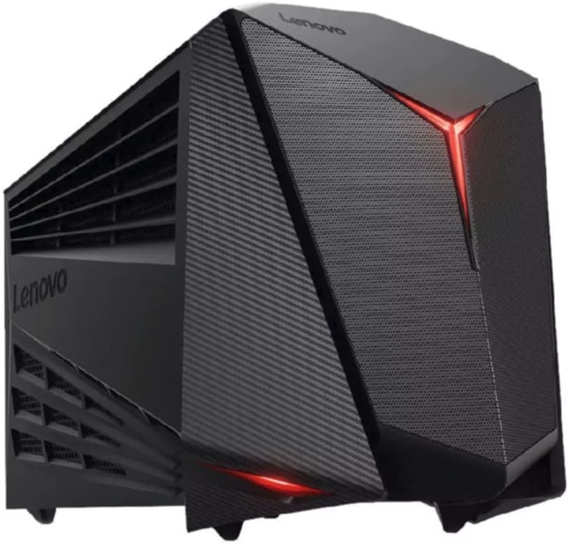 Lenovo ideacentre Y720 Cube-15 - Gaming Tower Desktop Computer (Intel Core i5-7400 / AMD Radeon RX 480 / 8GB / 1TB / Windows 10 Signature Image) 90H2003VUS (Renewed)