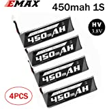 SoloGood Emax Tinyhawk Whoop hv s LiPo Battery 450mAh 1S 3.8V 85C LIHV for cinewhoop tinyhawk JST-PH 2.0 Powerwhoop Connector