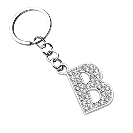 Amazon.com  Womens Keychains Letters Pendant Silver Plated Key Rings  Creative Birthday Gift Souvenir Gadget Key Ring Metal Keyrings FT059A   Office Products e7111d5c4