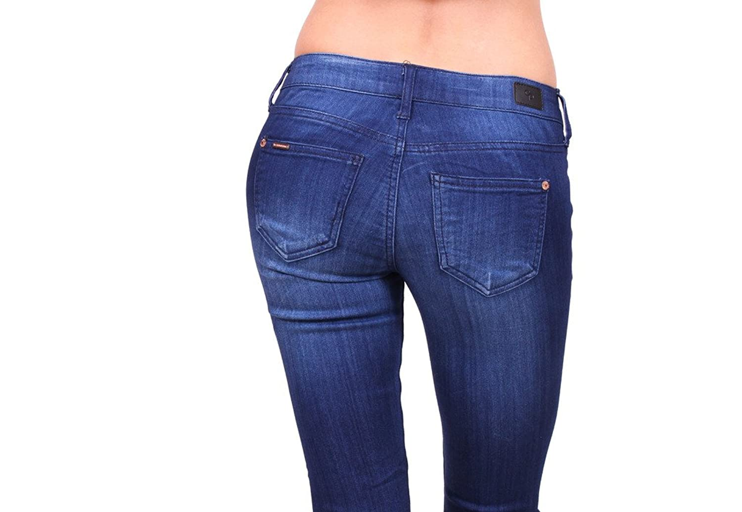 Celebrity Pink Jeans Women Skinny with Fake Front Pockets