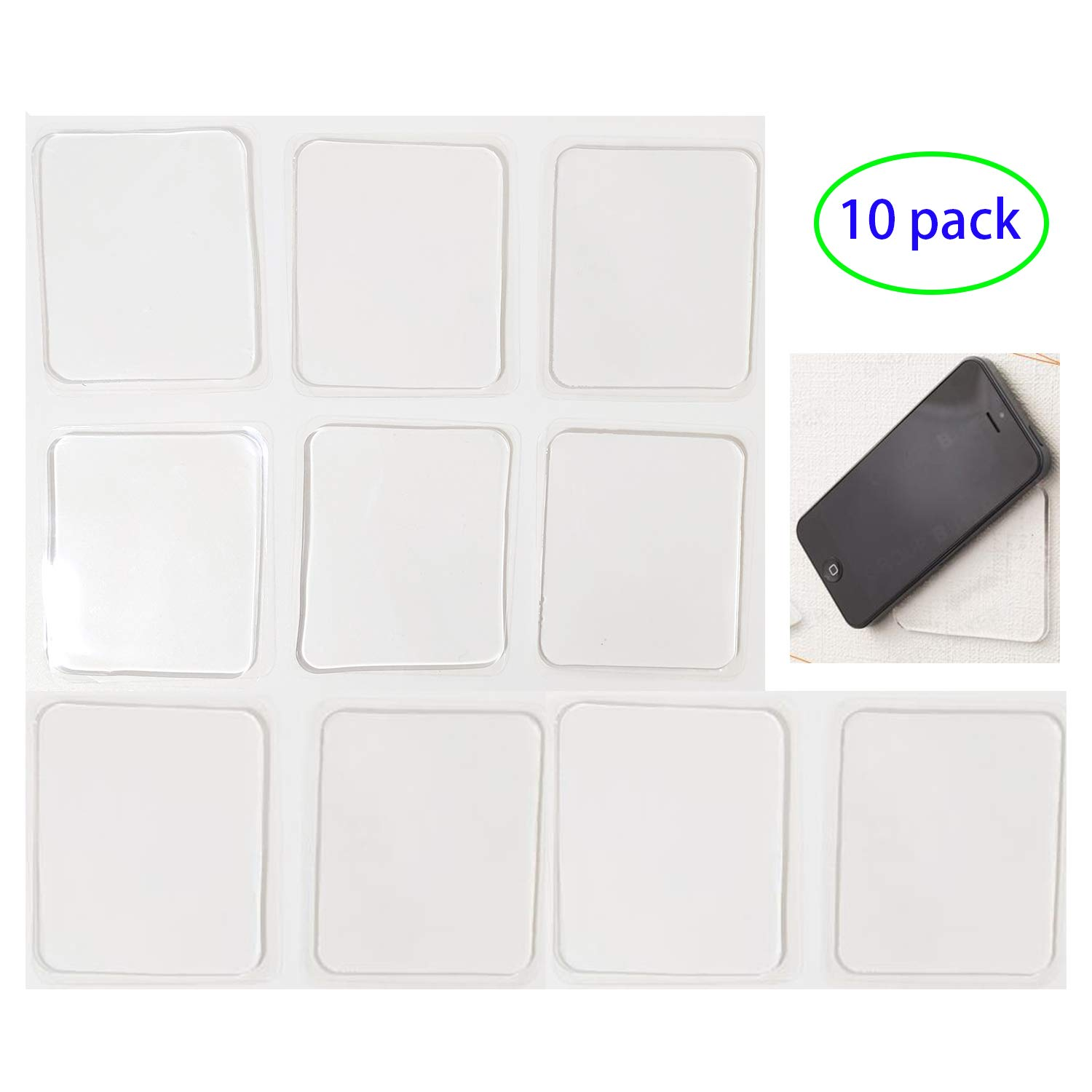 LIEN Super Sticky Gripping Pads Clear Silicone Gel Pads Durable Washable Anti-Slip Gel Pads for Car,Home,Cell Phone and Accessories by Lien
