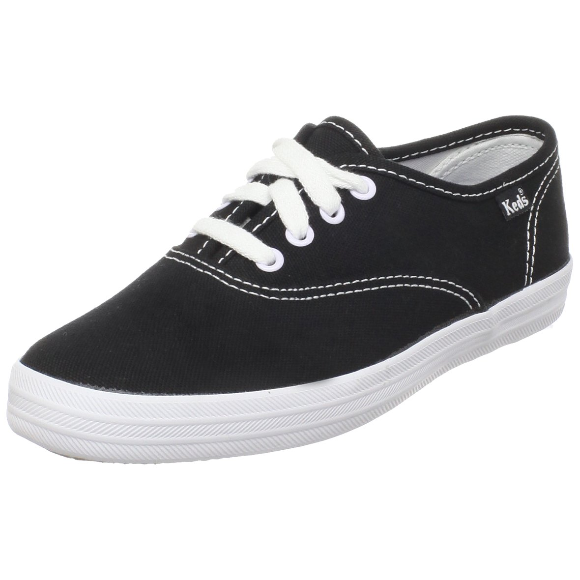 Keds Original Champion CVO Sneaker (Toddler/Little Kid/Big Kid),Black/White,12.5 M US Little Kid