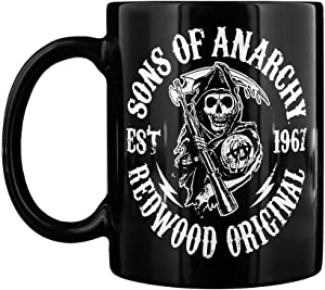Sons of Anarchy Mug for Tea or Coffee SoA Redwood Black