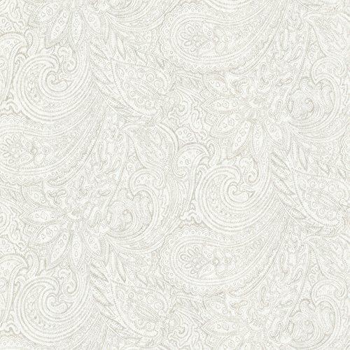Large Paisley Wallpaper - Advantage 2773-702118 Lula Paisley Wallpaper Light Grey