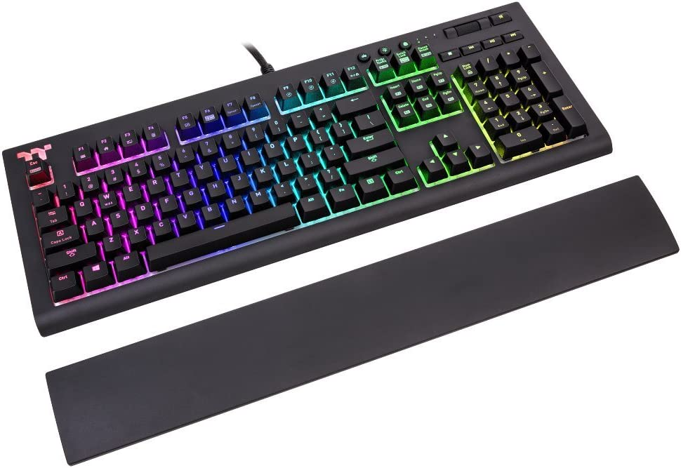 Thermaltake TT Premium X1 RGB Cherry MX Blue - Teclado Gaming UK Layout (QWERTY) Color Negro