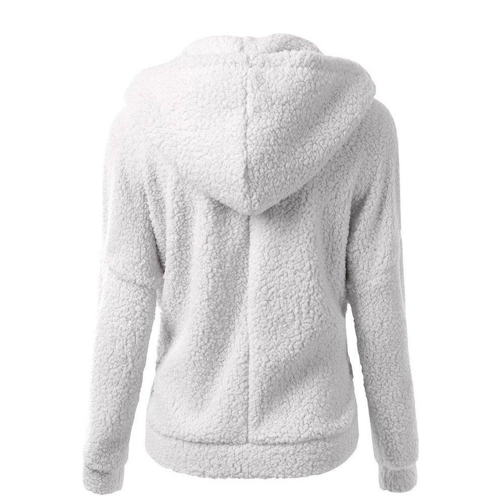 Kordelzug aus Kunstwolle gef/üttert mit Rei/ßverschluss FIRMON-Coat Damen Wintermantel mit Kapuze