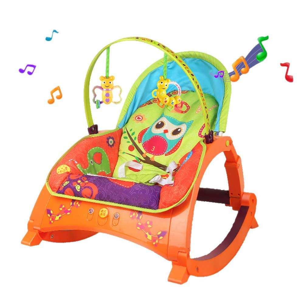 Yyqtyeyy Baby Electric Rocking Chair,Soothing The Baby's Artifact Sleeps,Baby Rocking Chair Safe Automatic Cradle Chair,The Newborn Sleeping Rocking Cradle by Yyqtyeyy