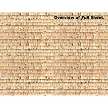 Dollhouse Decoration and Elements Scenery Sheets - Light Cedar Shakes (10 Sheets)