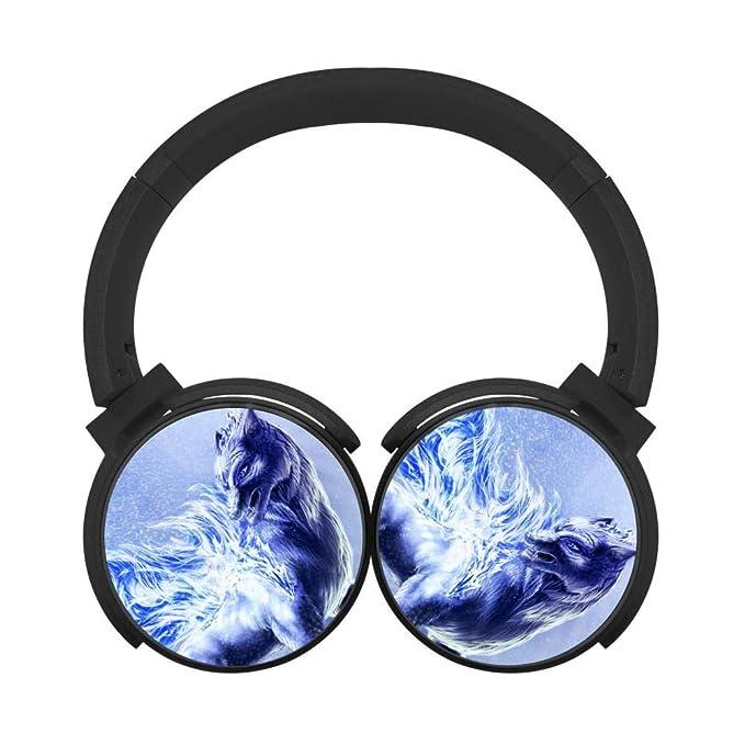 35383d92689 Amazon.com: Danger Skull Demon Wings Bluetooth Headphones Wireless Hi-Fi  Headset Adjustable Noise Cancelling Earbuds Portable Foldable Sound Proof  Earphone ...