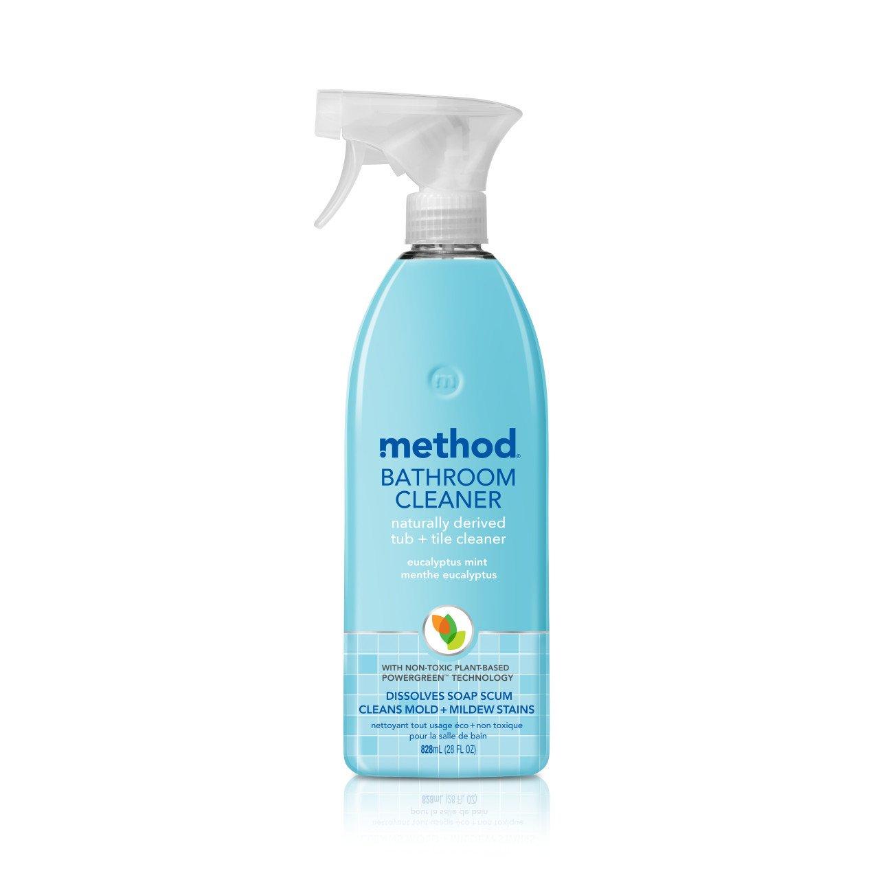 Amazon.com: Method Tub & Tile Cleaner Spray, Eucalyptus Mint, 28 ...