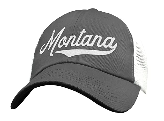 Amazon com: State of Montana Trucker Hat Baseball Cap - Snapback