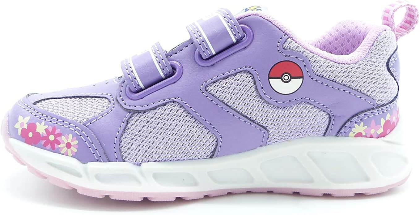 Geox sneaker jr girl shuttle luci j8206d stampa pokemon