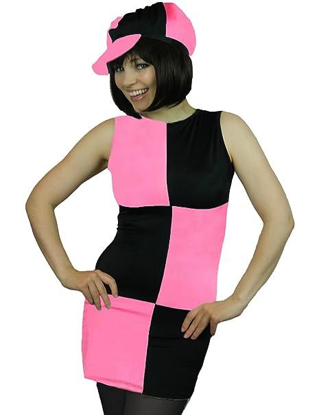7e54899c57d1 Amazon.com: Yummy Bee Womens Disco 60s 70s Mod Costume 1960s + Cap + Tights Plus  Size 2-12: Clothing
