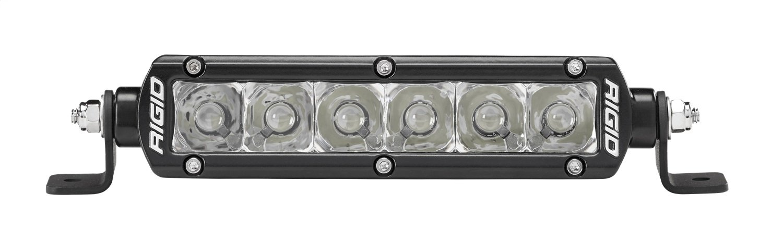Rigid Industries 906213 SR-Series Pro Spot Light; Surface Mount; 6 in.; Single Row; 10 Degree; Hybrid; 6 White LEDs; 2 Piece;