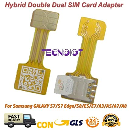 TECNOIOT Hybrid Dual SIM Card Adapter Micro SD Nano SIM Extension Adapter for Android | Dual SIM Adaptador Nano a Nano SIM Adaptador SIM Tarjeta Cable ...