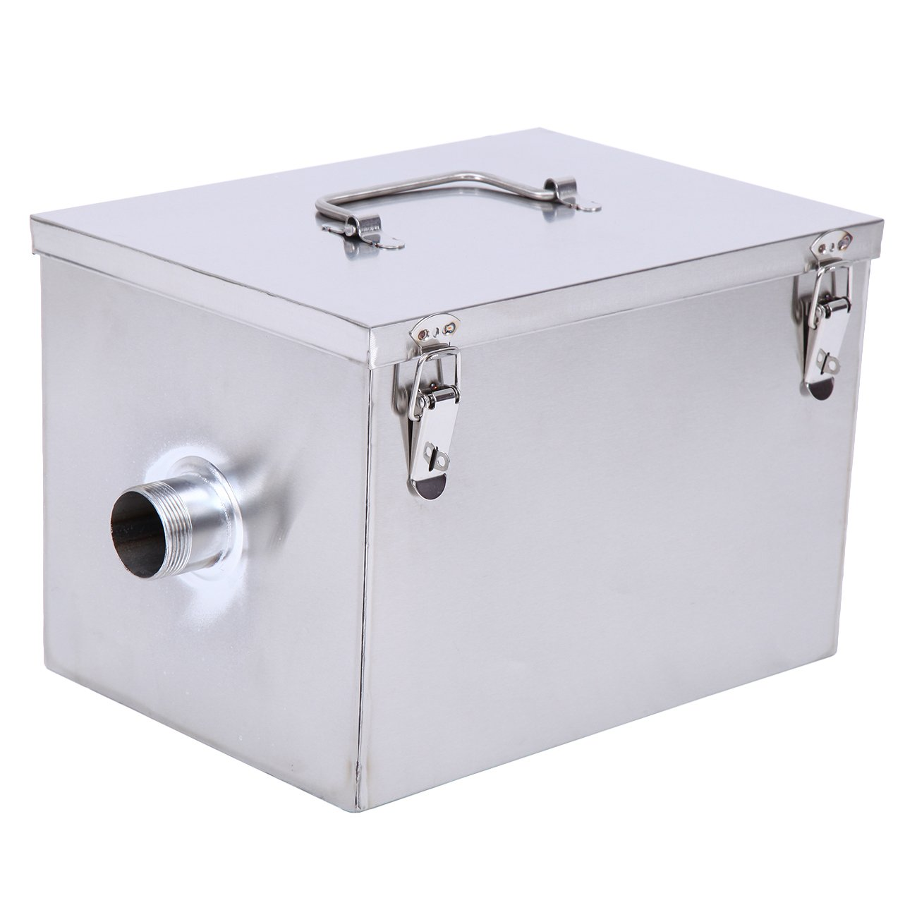 XuanYue Commercial Grease Trap 8 LB 5 GPM Gallon per Minute Stainless Steel Grease Interceptor Kitchen Kit for Restaurant Factory and Home by XuanYue