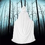 QBSM Women Men White Halloween Velvet Cloak Witch