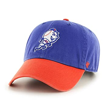 check out 13a71 65e93 New York Mets 47 Brand MLB Clean Up Adjustable Blue - Mr. Met Logo   Amazon.co.uk  Sports   Outdoors