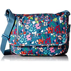 Vera Bradley Lighten Up RFID Laptop Messenger, Polyester, Superbloom Sketch