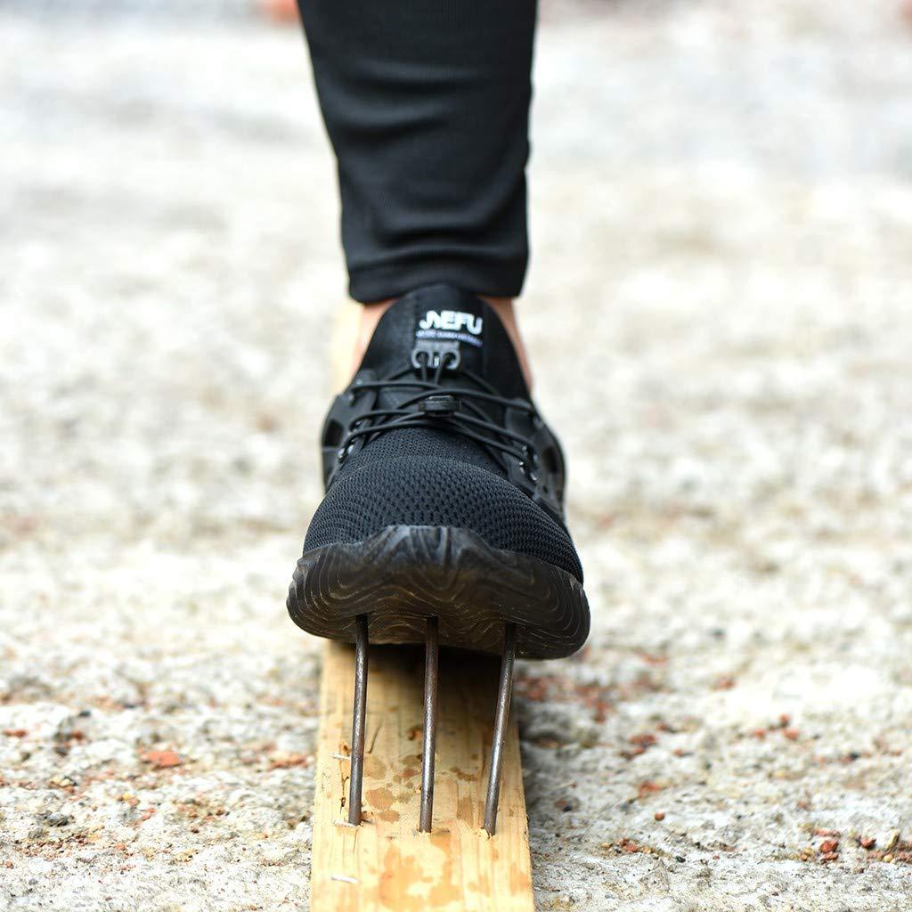 Zilosconcy Stahlkappe Sicherheitsschuhe Arbeitsschuhe Herren Damen luftdurchl/ässige Leichte Anti-Smashing Schn/ür Schuhe Rutschhemmend Anti-Perforations Schutzschuhe Industrie und Handwerk Schuhe
