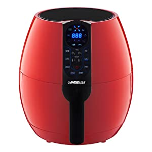 GoWISE USA 3.7-Quarts Programmable Air Fryer with 8 Cook Presets (Chili Red)