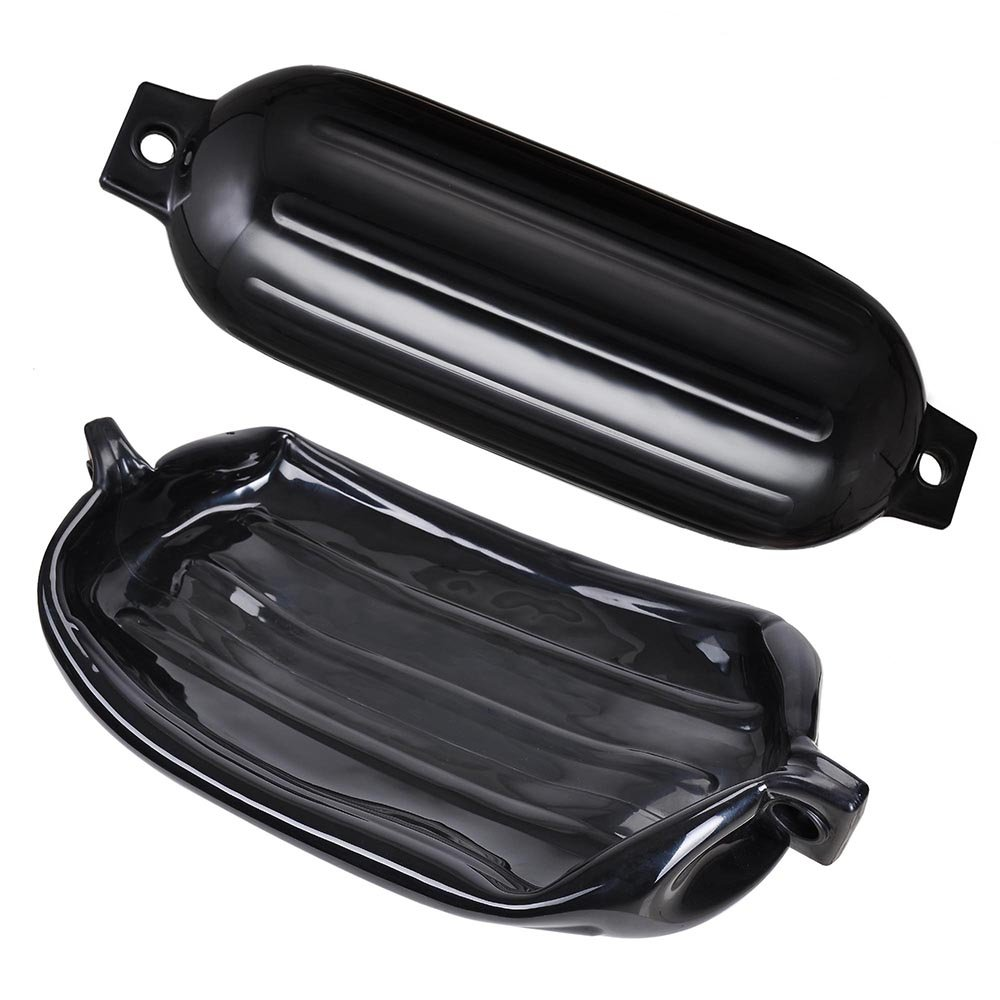 Yescom Ribbed Boat Fender 8x27 Bumper Dock Shield Protection w//Lines Pump Pack of 4