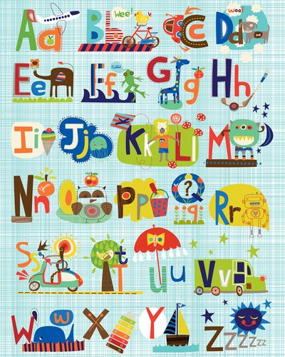 Oopsy-Daisy-Critters-Cars-and-Creatures-by-Carolyn-Gavin-Canvas-Wall-Art-24-by-30-Inch