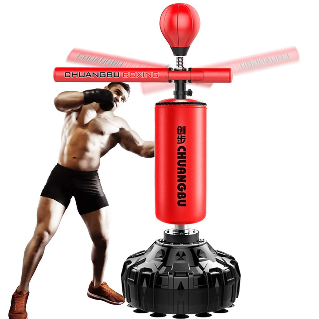 360°Free Standing Excellent Quality Heavy Duty Punch Bag, Free-Standing Fitness Target Stand Tower Bag, Tumbler Column Sandbag, Kick Boxing | Martial Arts | MMA by JWD - Boxing sandbag