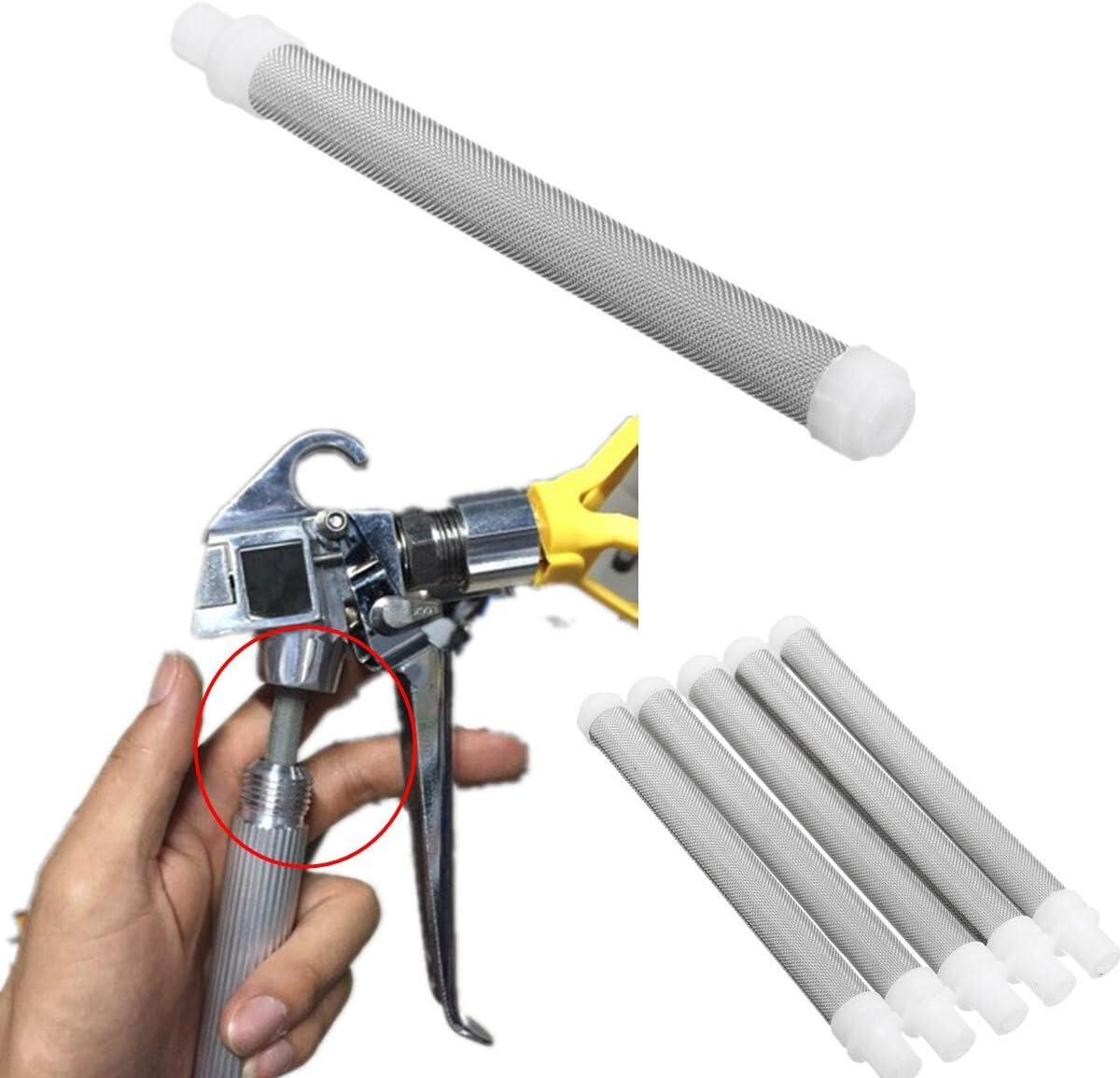 HELEISH 5pcs 60 /él/éments de filtre de pistolet de pulv/érisation sans air maill/é pour pistolet de pulv/érisation de peinture sans air Wagner Outil accessoire