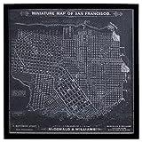 #2: Modern Print of 1879 San Francisco Map, Black Frame, 32