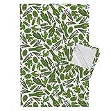Cactus Desert Southwest Nature Plant Cacti Landscape Tea Towels Cactus Scatter (White) by Robyriker Set of 2 Linen Cotton Tea Towels