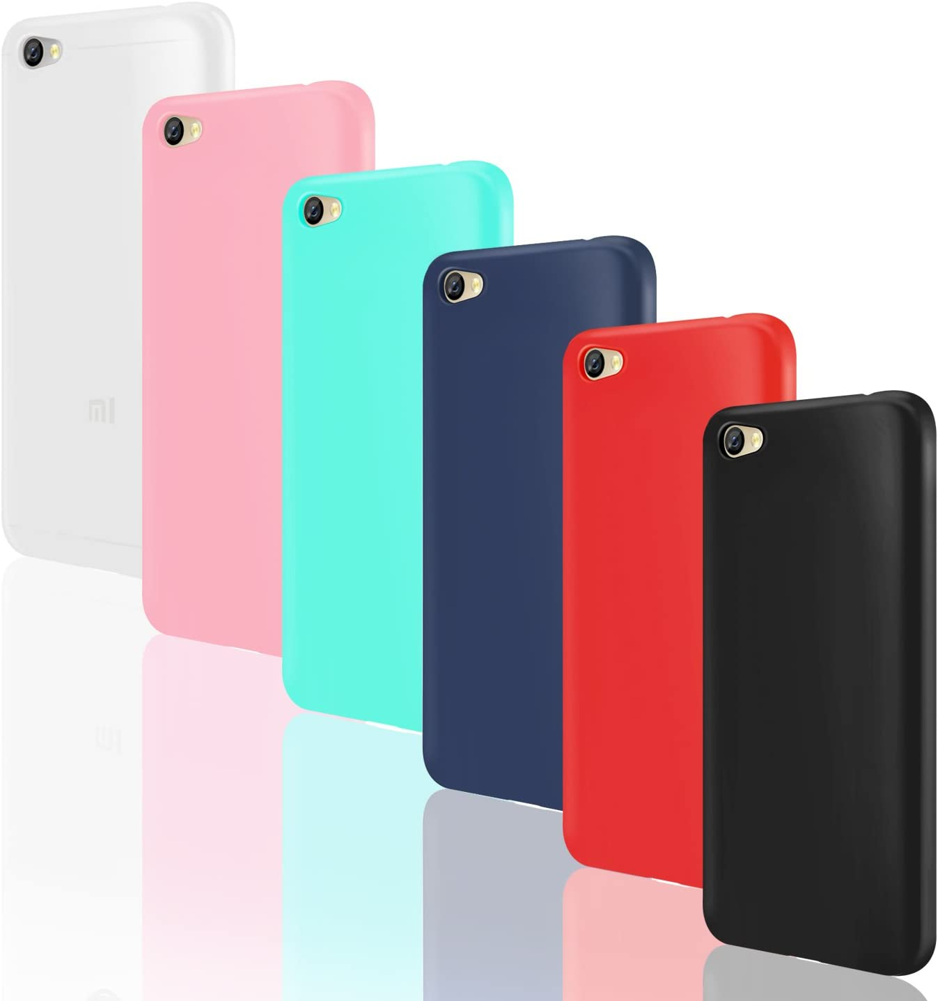 Leathlux 6X Funda Xiaomi Redmi Note 5A, 6 Unidades Carcasas [Sin ...