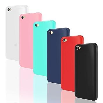 Leathlux 6X Funda Xiaomi Redmi Note 5A, 6 Unidades Carcasas [Sin Huella Dactilar] Juntas Silicona TPU Gel Protector Colores Cover para Xiaomi Redmi ...