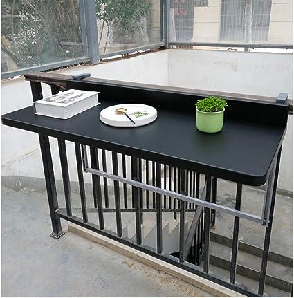 Balcon Suspendu Table Balustrades Metal En Aluminium Suspendu Table Pliante 80 40 Cm Maison Moderne Bar Noir Suspendu Bureau Table De Loisirs Amazon Fr Cuisine Maison