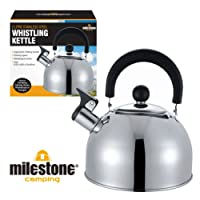 Milestone Camping Stainless Steel Kettle - Silver, 2 Litres