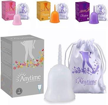 Cup menstrual Copa Menstrual pequeña talla 1 grande talla 2 plegable taza protección higiénica menstruación y reglas lavable suave Bio bolsa de ...