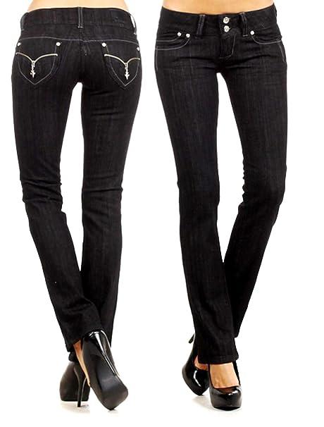 Amazon.com: Pantalones vaqueros para mujer de color azul ...