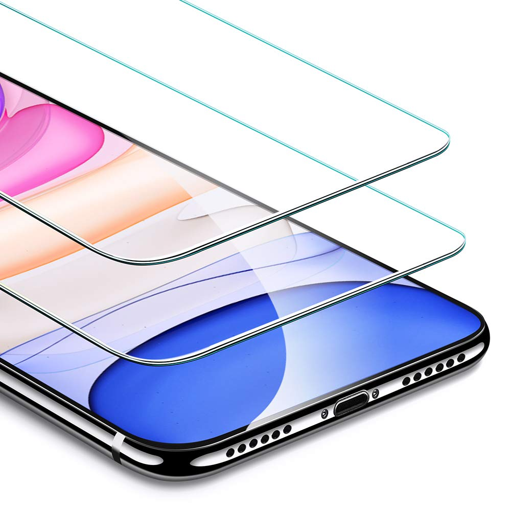 ESR Screen Protector Compatible for iPhone 11, iPhone XR [2 Pack] [Easy Installation Frame] [Case Friendly], Premium Tempered Glass Screen Protector for iPhone 6.1 Inch (2019) by ESR