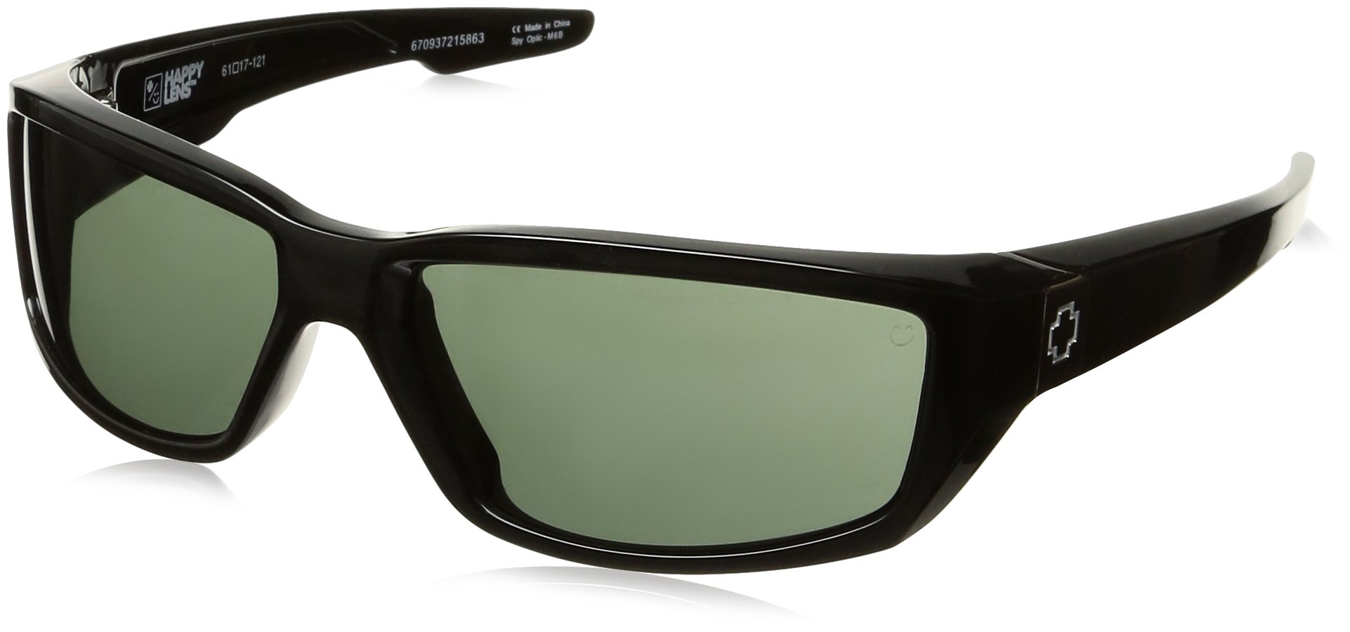 Spy Optic Dirty MO Flat Sunglasses, Black/Signature Happy Gray/Green, 59 mm