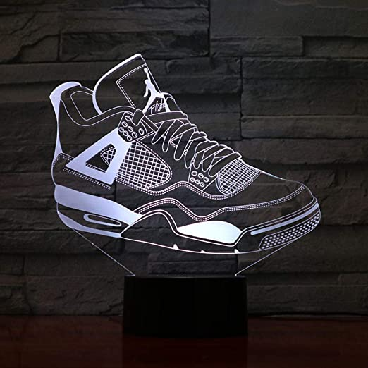 Jordan Retro 4 Zapatos Lámpara de baloncesto Decoración de ...