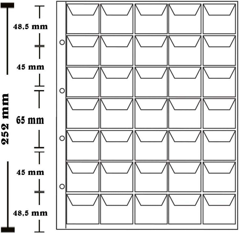 zur M/ünz-Aufbewahrung LARIUS M/ünzh/üllen je 35 F/ächer bis 35 mm /Ø f/ür Gedenkm/ünzen z.B 10 St/ück 2 Euro- M/ünzen