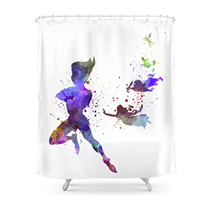 Society6 Peter Pan In Watercolor Shower Curtain 71quot