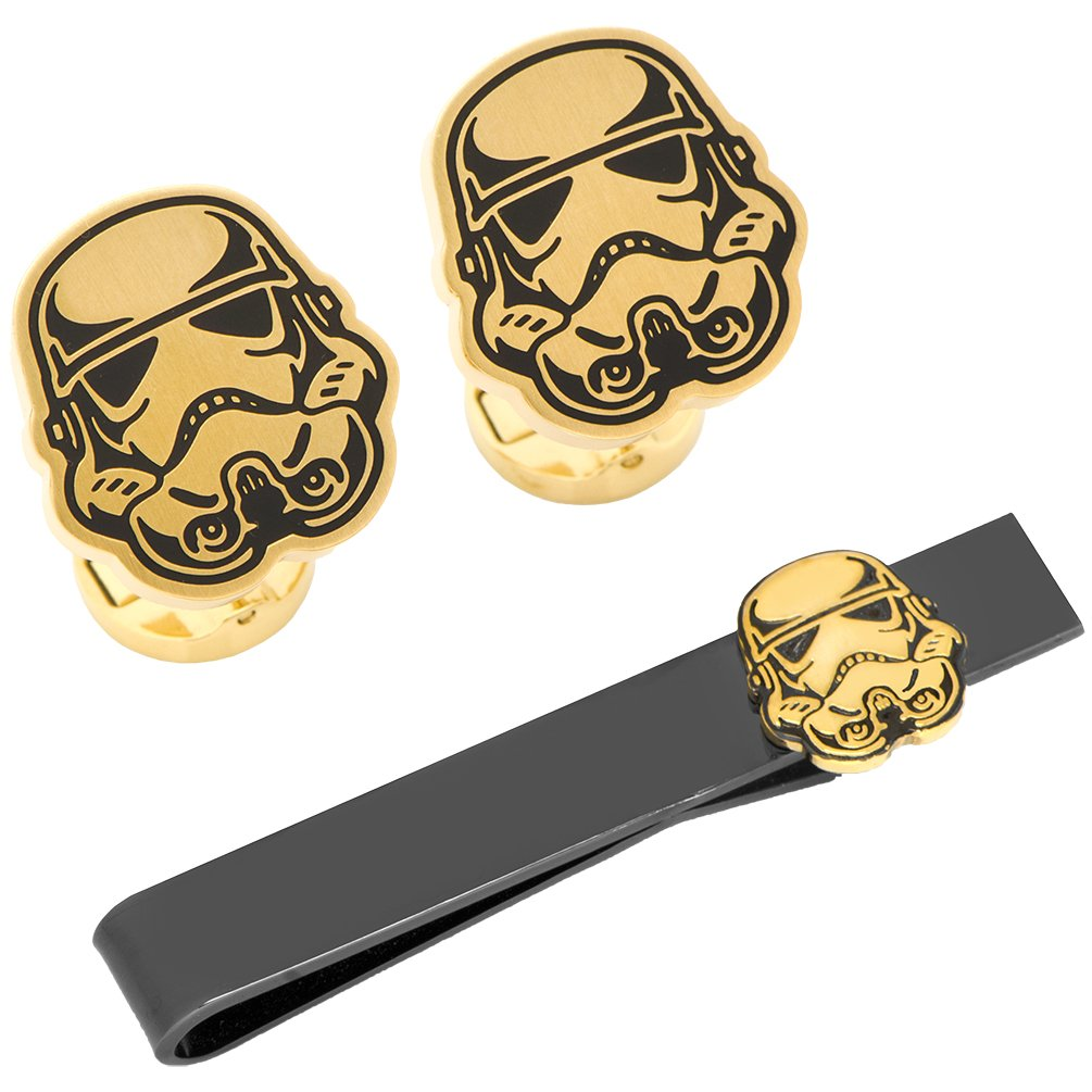 Cufflinks Officially Licensed Stormtrooper Canto Bight Cufflinks and Tie Bar Gift Set, Star Wars