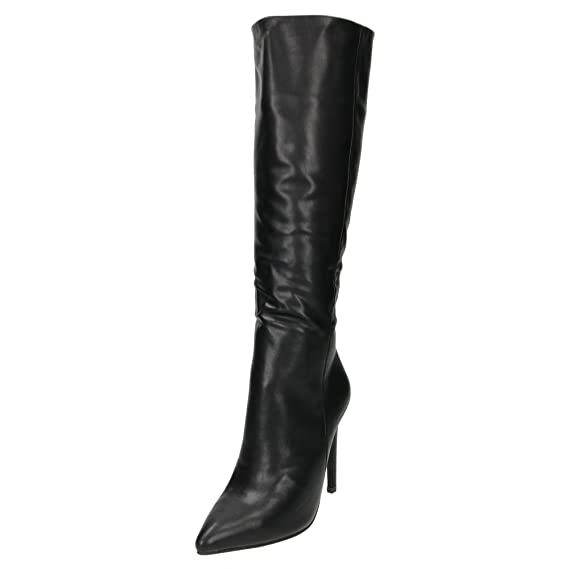 8bfce093ad1 stiletto heel pointed toe knee high boots  Amazon.co.uk  Shoes   Bags
