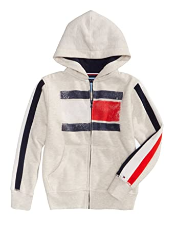 9980abc5e1e Amazon.com  Tommy Hilfiger Boys Graphic Print Full Zip Hoodie 2 2T  Clothing