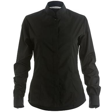 Kustom Kit Damen Hemd / Bluse mit Stehkragen, Langarm: Amazon.de: Bekleidung