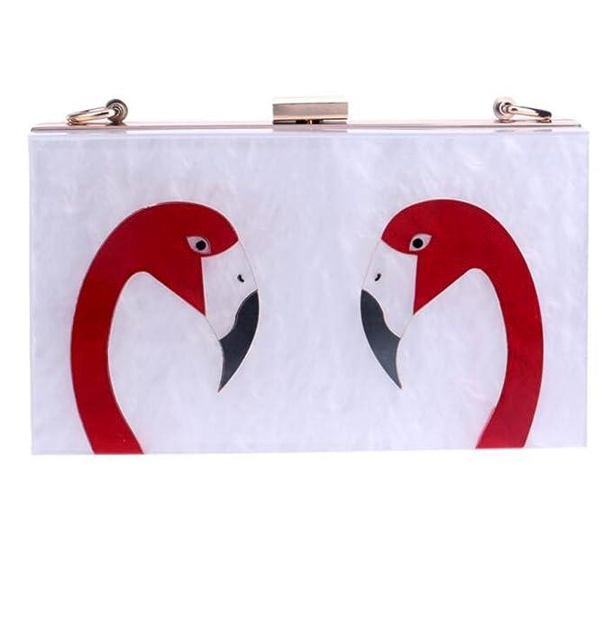 26543 Little Swan Bolsos De Alto Grado Acrílico Hombro Novia Bolsa De Noche De Lujo Vestido De Embrague Manejar,A-OneSize: Amazon.es: Ropa y accesorios