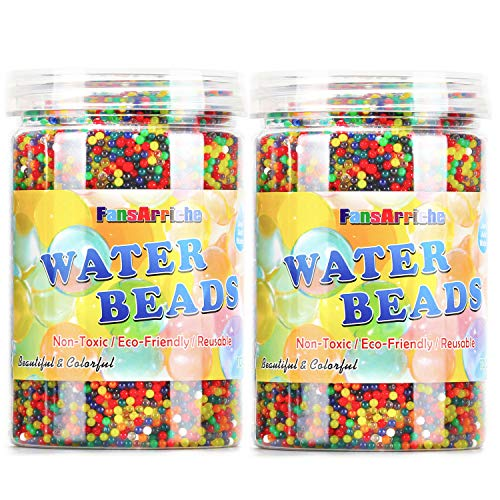 FansArriche Water Beads, 20 Ounces (120,000 Beads ) Gel Beads Water Growing Beads for Foot Spa Refill,Kids Sensory Toys, Plants and Vases by FansArriche