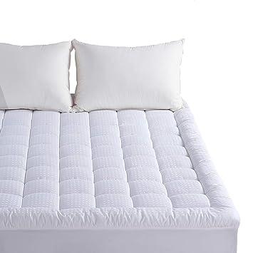 twin mattress pillow topper Amazon.com: Twin Mattress Pad   Pillow Top Fitted Mattress Pad  twin mattress pillow topper