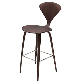 Sensational Amazon Com Kathy Kuo Home Regan American Dark Walnut Modern Inzonedesignstudio Interior Chair Design Inzonedesignstudiocom